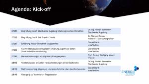 Agenda des Kick-offs am 19.11.2020